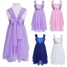 Girl Sequins Dress Flower Princess Baby Party Wedding Pageant Bridesmaid Dress