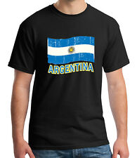 Argentina Flag Adult's T-shirt Distress Argentinian Cool Tee for Men - 1068C