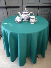Teal Green  Round  tablecloth Polyester easycare 11 sizes Made in USA