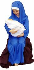Nativity-Christmas-School Play BLUE VIRGIN MARY Fancy Dress Costume ALL AGES