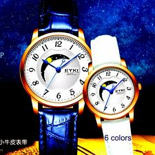EYKI genuine mens womens moon phase watch analog casual easy to read sport luxur