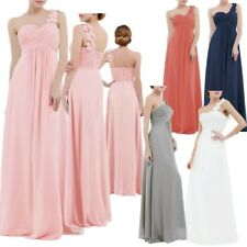 Chiffon Long Bridesmaid Wedding Party Dress Formal Prom Evening Cocktail Gown