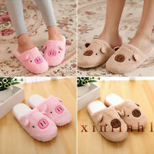 Cartoon Women Slippers Winter Warm Indoors Home Floor Cotton Slippers Soft Shoes