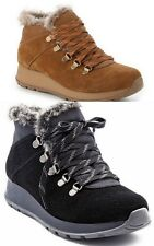 BareTraps Grazi Women's Water-Resistant Lace-up Ankle Boots with Faux Fur Lining