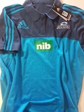 ADIDAS AUCKLAND BLUES POLO SHIRT SUPER RUGBY UNION Official Licensed Product xL
