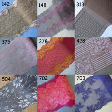 9 Colors Stretch Floral Lace Beige,Grey,Brown,Red,Lilac,Plum,Purplish red zh21