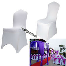 STRETCHY SPANDEX / LYCRA CHAIR SEAT COVERS BANQUET WEDDING RECEPTION PARTY DECOR