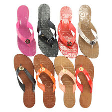 NEW Tory Burch Thora Leather Thong Sandals Flip Flops 6-9