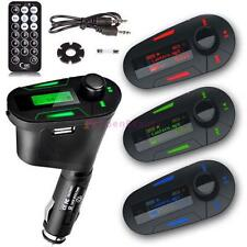 Car Kit MP3 Player Wireless FM Transmitter Modulator USB SD MMC LCD RemoteRGBFZ