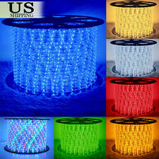 150' LED Rope Light 110V Party Home Christmas Outdoor Xmas Lighting 100 300 US