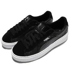 Puma Suede Platform Safari Wns Black White Women Casual Shoes Sneakers 364594-03