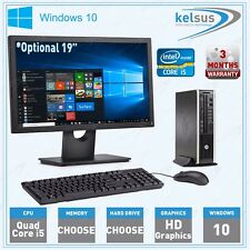 FAST Cheap Quad Core i5 Office PC HP Desktop Computer SSD 1TB 8GB Windows 10