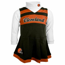 Cleveland Browns Girls Toddler Brown Cheer Jumper - NFL