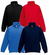 Fruit of the Loom Kids Sweat Jacket Various Colours 116-164 NEW