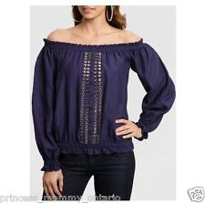 GUESS by Marciano Coralina Blouse Off shoulder Top Shirt  Size XS