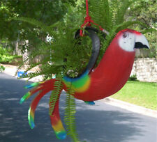 Tropical Bird Parrot Planters. Red Scarlet Macaw,Blue,Green,Yellow.Recycled Tire