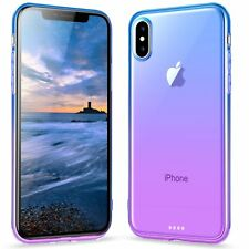 iPhone X Case Cover Slim Soft Tpu Drop Protection Lightweight Blue Purple New