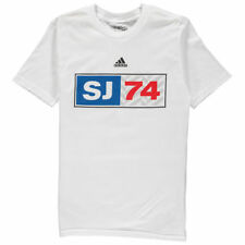 adidas San Jose Earthquakes Youth White Jersey Hook T-Shirt - MLS