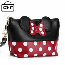 Travel Cosmetic Bag Cartoon Mouse Bow Makeup Case bag Pouch Minnie Inspired Chri