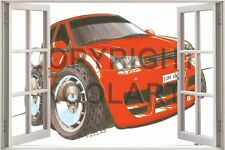 Huge 3D Koolart Window view Vw Golf Mk5 Wall Sticker Poster 2521