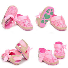 HOT Hollow Multi-Color Woolen Bow-Knot Baby Girls Toddler Soft Soles Shoes Fall