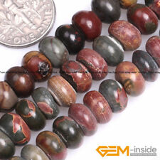 Natural Picasso Jasper Gemstone Spacer Loose Beads For Jewelry Making Strand 15""