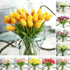 5x Real Touch Artificial Tulip Flowers Bouquet Home Wedding Garden Floral Decor
