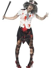 SALE Adult Zombie Policewoman Ladies Halloween Horror Fancy Dress Costume Outfit