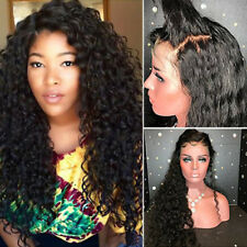 Glueless Full Lace Front Wig Remy Indian Human Hair Wigs Deep Curly Part Free tr