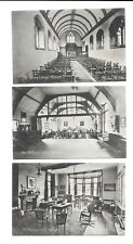 NORWICH - THE TRAINING COLLEGE x 3 - INTERIOR - OLD POSTCARDS - NORFOLK  3 CARDS