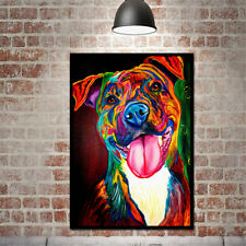 Oil Painting On Canvas Colorful Dog Modern Simple Huge Wall Art Unframed