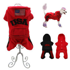 USA Small Dog Winter Coat Chihuahua Clothes Jumpsuit Pet Puppy Jacket  Hoodie