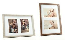 Photo Frame Picture Frame 2 photos 10x15 Walnut Limed Oak Wooden