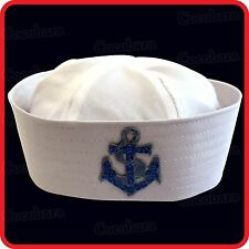 KIDS CHILDRENS/ADULTS NAVY SAILOR HAT-POPEYE-GOB-YACHT-BOAT-SEA-COSTUME-ANCHOR05