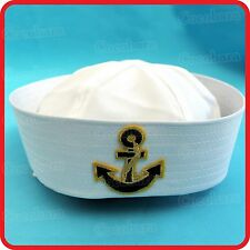KIDS CHILDRENS/ADULTS NAVY SAILOR HAT-POPEYE-GOB-YACHT-BOAT-SEA-COSTUME-ANCHOR08