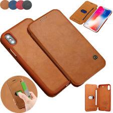 For iPhone X 8 Ultra Thin Leather Wallet Case Card Slot Shockproof Flip Cover