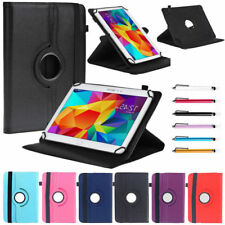 """AU For 9.7"""" 10"""" 10.1"""" inch Tablet Universal Rotating PU Leather Stand Case Cover"""