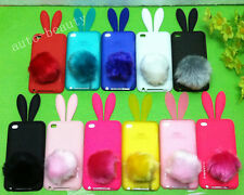 Optional Lovely Bunny Rabbit TPU SKIN COVER CASE for Ipod Touch 4th Gen + Tails