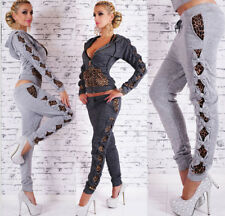 Women 2Pcs Tracksuit Hoodies Sweatshirt Pants Sets Sport Wear Casual Suit
