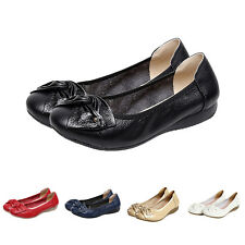 Handmade genuine leather ballet women female casual shoes women flats shoes A2S8