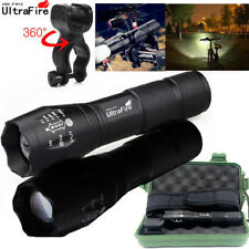 Ultrafire 50000Lumens LED Zoomable Tactical LED 18650 Flashlight Torch Light
