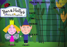 BEN & HOLLY BIRTHDAY PARTY INVITATIONS, KIDS, CHILDRENS PARTY INVITES