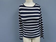 WEEKEND MAX MARA Blue White Striped Rayon Blend Casual Knit Top Size M DD1926