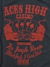 NWT Lucky Brand S/S Black Graphic T-Shirt   Aces High Casino  Choose Size  L2001