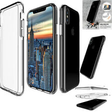Transparent Shockproof Protective Slim TPU+PC Cover Case For iPhone X 8 7 Plus