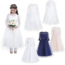 Flower Girl LACE Communion Party Prom Princess Pageant Bridesmaid Wedding Dress