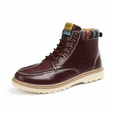 Hot Mens Ankle Martin Boots Winter High Top Casual Walking Shoes Lace Up Classic