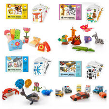 10pcs 3D Paper Puzzle Jigsaw DIY Pasted Animal Vehicle Model etc. Gift Toy Decor