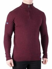 Superdry Men's Metropolitan Northside Henley Knit, Red