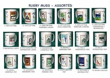 RUGBY.RETRO RUGBY PROGRAMME MUGS.18  DESIGNS.VARIOUS CLUBS.1929 - 1970.NEW.BNIB